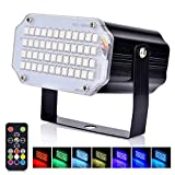 Hisome Christmas LED Mini Strobe Light, Flash Party Stage Sound Activated Lamps, 48 RGB Speed Control Lights for DJ Disco Clubs Birthday Wedding Dance Parties, Xmas