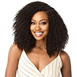 Outre Human Hair Blend Clip on Weave Premium Purple Pack Big Beautiful Hair Clip-In 4C Coily Fro 10' 9Pcs (JBLK)