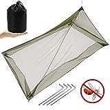 MAIKEHIGH Moustiquaire pour Camping Lit Simple 1 Personne, Compacte et...