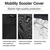 Waterproof Mobility Scooter Cover, Electric Wheelchair Transport Storage Cover Heavy Duty, 74.8'Lx27.9'Wx46'H