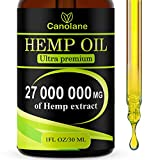 Hemp Oil Drops, 27 000 000 mg, Natural CO2 Extracted, 100% Organic, Pain, Stress, Anxiety Relief, Reduce Insomnia, Vegan Friendly, Zero CBD, Zero THC