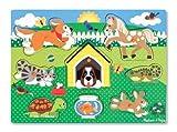 Melissa & Doug - 19053 - Puzzle En Bois À Boutons - Animaux Domestiques
