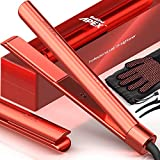 Bekind Apex 2-in-1 Hair Straightener Flat Iron, Straightener and Curler for All Hairstyles, 15s Fast Heating, Temperature Memory, Gift for Girls Women (Living Coral)