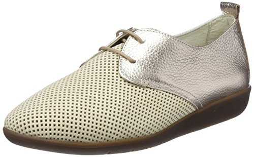 24 HORAS 23538, Zapatos de Cordones Oxford Mujer, Dorado (Champan 3), 36 EU