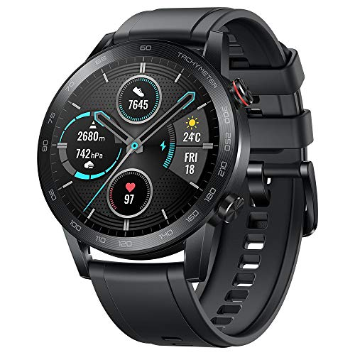 """Original Huawei Honor Watch Magic Watch 2 Minos 46mm Smartwatch 1.39"""" AMOLED Always-on Display 5ATM 14days Battery Life with Mic(Sport Carbon Black)"""