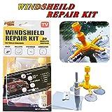 Kit de réparation de pare-brise de voiture Avec ventouse Pour réparer les fissures et les rayures Instructions détaillées (langue française non garantie)