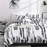 ADASMILE A & S Art Black and White Bedding Set Queen Graffiti Duvet Cover 3 Piece Bedding Set 1 Duvet Cover with 2 Pillow Shams No Comforter