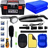 LIANXIN Car Cleaning Tools Kit -High Power Handheld Vacuum,Car Cleaning Tools with Soft Microfiber...