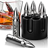 Bullet Shaped Metal Whiskey Stones - 6-Pack Stainless Steel Whiskey...