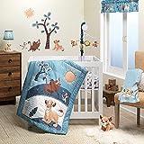 Lambs & Ivy Disney Baby Lion King Adventure Blue 3-Piece Mini Crib Bedding Set