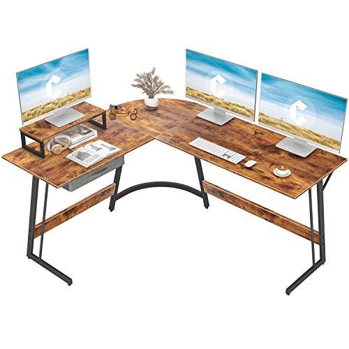 CubiCubi Modern L-Shaped Desk Computer Corner Desk, 59.1' Home Office...