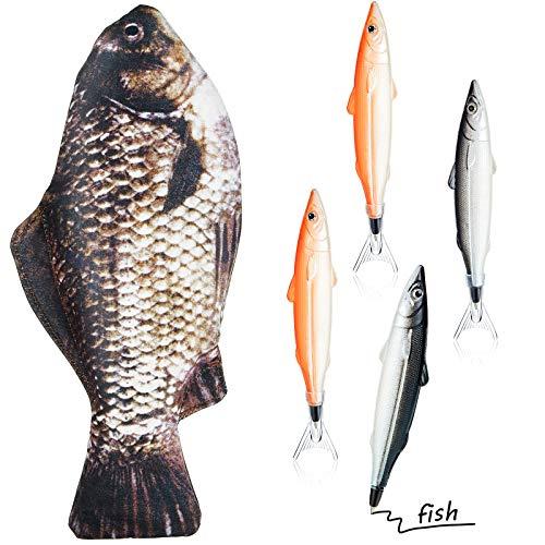 Astucci a Forma di Pesce Porta Matita Case a Pesce Porta Moneta Moneta Case Divertente con Imbottito...