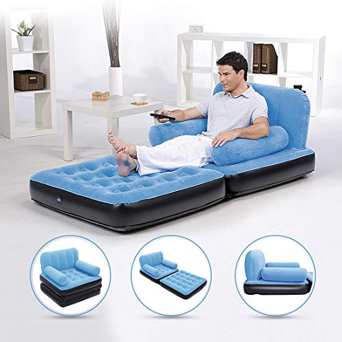 NHR 5 in 1 Inflatable Three Seater Queen Size Sofa Cum Bed