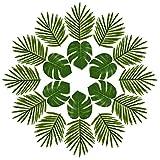 Kuuqa Ensemble de 24 feuilles de palmier tropical Simulation Plantes...