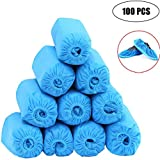 Disposable Boot & Shoe Covers 100Pack (50 Pairs) | Non-Slip, Durable, Indoor | Protect Your Home, Floors and Shoes. (blue)