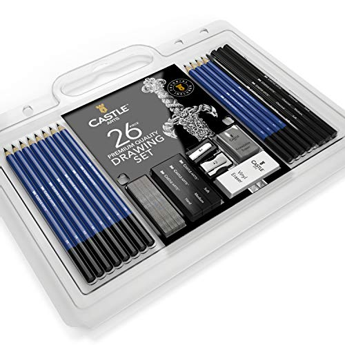 Castle Art Supplies Drawing and Sketching Pencil Art Set (26 Items)