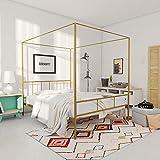 Novogratz Marion Canopy Bed Frame, Gold, Full