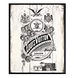 Rustic Vintage Wood Sign Picture of Vintage Louis Vuitton Ad - Boho Farmhouse Home Decor Wall Art...