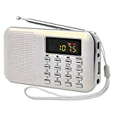 White Portable Rechargeable Electronic Audio Bible Blayer 8G NIV Version with Praise Poetry and Sermon
