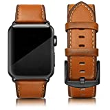 SWEES Leather Band Compatible for iWatch 42mm 44mm, Genuine Leather Replacement Wristband Strap...