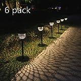 Lampadaires solaires d'extérieur Pack de 6 Lampadaires solaires de jardin...