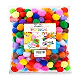 Size(approx): About 1 inch (2.5cm) in diameter Color: Assorted colors Pom Poms about 240 Pieces/ bag Material: Acrylic yarn Children can create art projects and release their imagination with these pompoms Can be applied to create toy, garland, wreat...