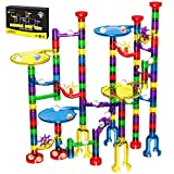 Magicfly Marble Run Set, 127 Pcs Marble Race Track for Kids with Glass Marbles Upgrade Marble Works...