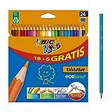 BIC Kids Evolution ECOlutions Crayons de Couleur - Coloris Assortis, Etui...