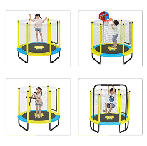 JIYU Fitness Trampoline Children/Toddler, Rebounder Trampoline with Handrail Fence Exercise Trampoline for Adults Kids Indoor/Outdoor Home Gym Equipment - Max Weight 200kg 5