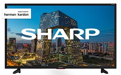 Sharp Aquos LC-40BF5E - 40' Full HD LED TV, DVB-T2/S2, 1920 x 1080 Pixels, Nero, suono Harman...