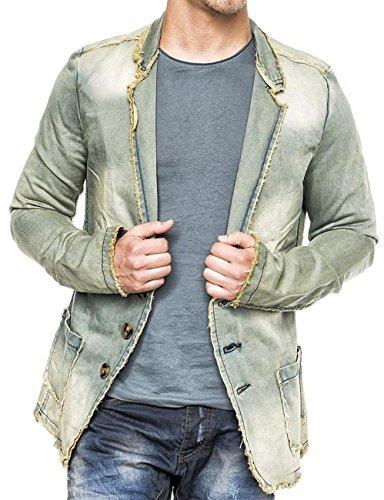 ArizonaShopping Herren Denim Jacke Vintage Jeansjacke Sakko Pitt...