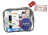 Kit d'accessoires de voyage pratique, articles de toilette de voyage, cadeaux pour homme et femme,...