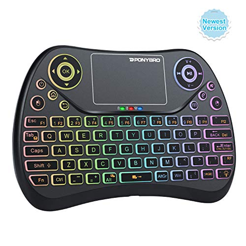 (Newest Version) PONYBRO Backlit Mini Wireless Keyboard with Touchpad...