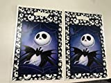 """Jack Skellington Loot Goody Goodie Gift Bag, 6.5"""" x 10"""" Pearly Plastic, Partyware Tableware Party Favor Bag for Pinata Candy Decorations -10 pcs, Nightmare Before Christmas, Halloween, Skeleton"""