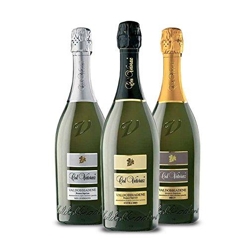 Col Vetoraz - Valdobbiadene Prosecco docg- 1 Prosecco extra dry, 1 Prosecco Brut, 1 Prosecco Millesimato - Col Vetoraz