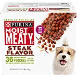 Purina Moist & Meaty Wet Dog Food, Steak Flavor - 36 ct. Pouch