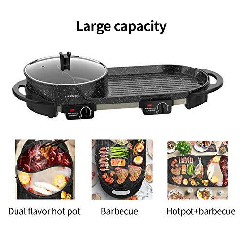 Product Image 2: Liven Electric Grill With Hot Pot SK-J6860 Multifunctional, Indoor Teppanyaki Grill/Korean BBQ/Shabu Shabu Hot Pot, 3.6L Capacity for 2-10 People