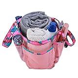 Bascar Bolso de mano para mujer, para baño, cesta de almacenamiento, bolsa de la compra, bolsa de lavado, artículos de viaje, adecuado para bodas, fiestas, bailes, ropa cotidiana