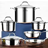 HOMI CHEF 10-Piece Nickel Free...
