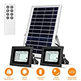 Solar Flood Lights Led Lights Remote Solar Lights Dusk to Dawn Solar Security Light with 6W 800 LM Dual 42 LEDs IP65 Waterproof Outdoor Solar Lights for Fence,Garden,Pool,Barn,Lawn,Flag Pole