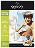 Canson 200004318, Carta Fotografica Lucida A4, Bianco
