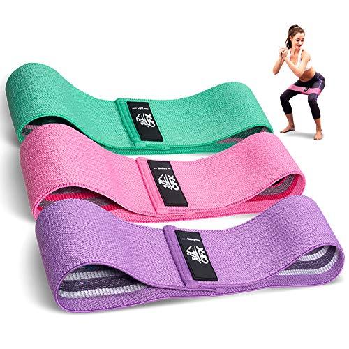 CFX Elastici Fitness, Set di 3 Elastico Fitness Fasce di Resistenza Larghe e in tessutopi Resistente e Lunga Durata - per Fitness Yoga, Pilates, Physiotherapy - Una Custodia per Il Trasporto Inclusa