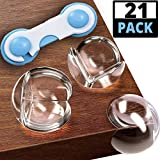 Kids Clear Corner Guards (20 Pack + 1 Lock Gift) - Child Safety Sharp Corner Protectors – Table Corner Protectors for Baby Proofing - Baby Safety Adhesive Edge Bumpers - Glass Furniture Child Proof