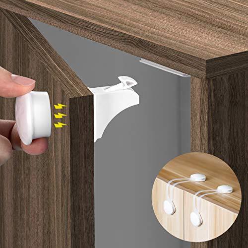 COSYLAND Serrature Cassetti Magnetiche per Bambini Kit di Sicurezza Blocca Cassetti (12 Serrature+2...