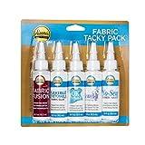 Aleene's Tacky Pack Fabric Glue, 5pk