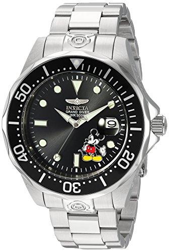 Invicta 24496 Disney Limited Edition - Mickey Mouse Herren Uhr Edelstahl Automatik schwarzen Zifferblat