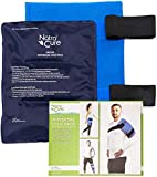 NatraCure Universal Large Gel Cold Pack Ice Wrap - 717-RET - Reusable Ice Compress with Straps for Shoulder, Back, Knee, Hip, Elbow, Ankle - Pain Relief of Injuries, Swelling, Aches, Bruises, Sprains
