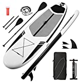 Stand Up Paddle Board 10'30''6'' Inflatable SUP with Premium Paddleboard & Bi-Directional Pump & Backpack Portable for Youth Adult Have Fun in River, Oceans, Lakes