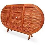Deuba Gartentisch Esstisch Alabama Klappbar Akazien Holz 160x85cm Holztisch Garten Tisch Gartenmöbel - 4
