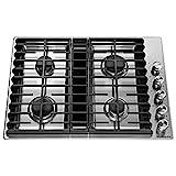 KitchenAid KCGD500GSS 30' 4 Burner Stainless...
